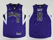 Mens Nba Sacramento Kings #8 Gay Purple Jersey