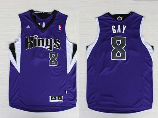 Mens Nba Sacramento Kings #8 Gay Purple Jersey