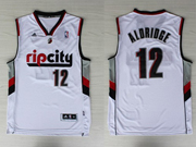 Mens Nba Portland Trail Blazers #12 Aldridge (ripcity) White Jersesy (p)