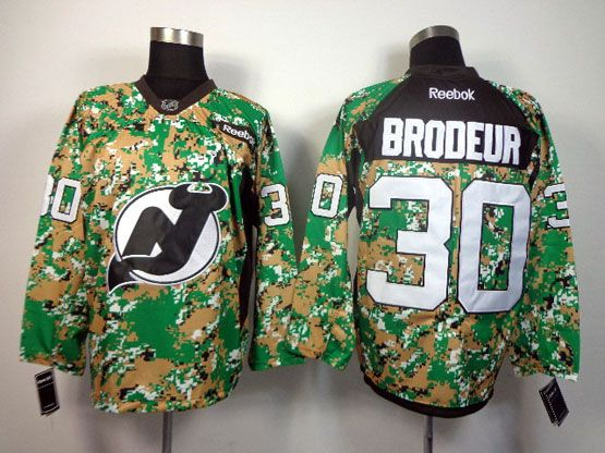 Mens reebok nhl new jersey devils #30 brodeur (2014 green camo) Jersey