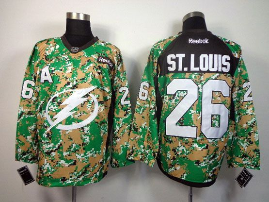 Mens reebok nhl tampa bay lightning #26 st.louis (2014 green camo) Jersey