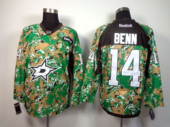 Mens reebok nhl dallas stars #14 benn (2014 green camo) Jersey