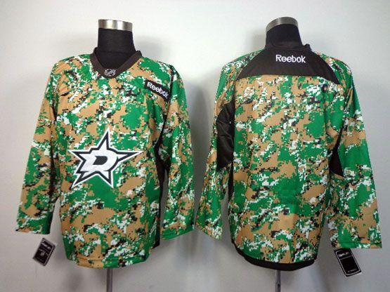 Mens reebok nhl dallas stars blank (2014 green camo) Jersey