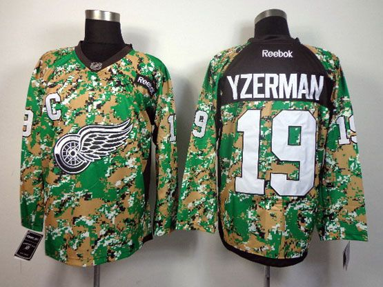 Mens reebok nhl detroit red wings #19 yzerman (2014 green camo) Jersey