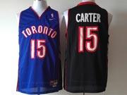 Mens Nba Toronto Raptors #15 Carter Purple&black Jersey(m)