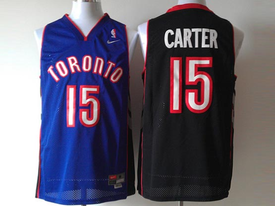 Mens Nba Toronto Raptors #15 Carter Purple&black Jersey(m)