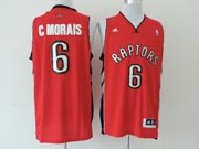 Mens Nba Toronto Raptors #6 C Morais Red (new Mesh) Jersey