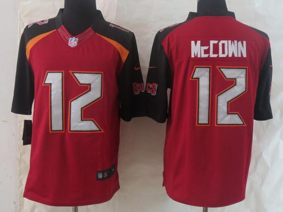 Mens Nfl Tampa Bay Buccaneers #12 Mccown Red (2014 New) Limited Jersey