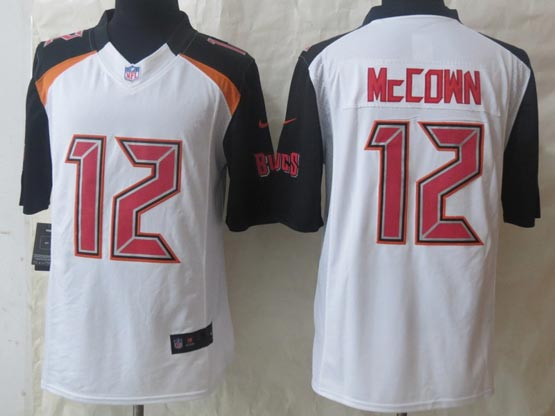 Mens Nfl Tampa Bay Buccaneers #12 Mccown White (2014 New) Limited Jersey