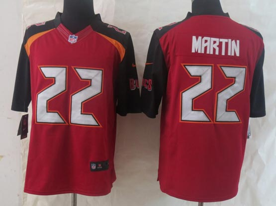 Mens Nfl Tampa Bay Buccaneers #22 Martin Red (2014 New) Limited Jersey