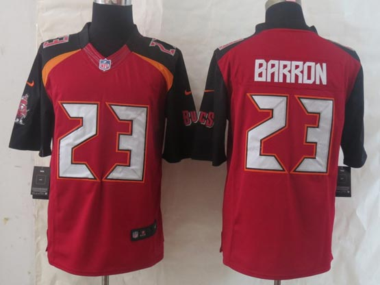 Mens Nfl Tampa Bay Buccaneers #23 Barron Red (2014 New) Limited Jersey