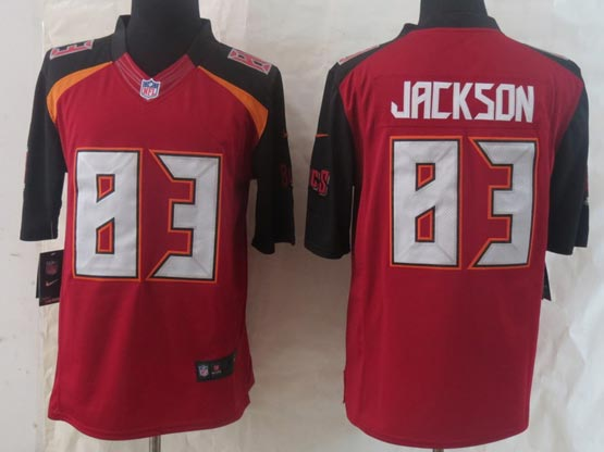 Mens Nfl Tampa Bay Buccaneers #83 Jackson Red (2014 New) Limited Jersey