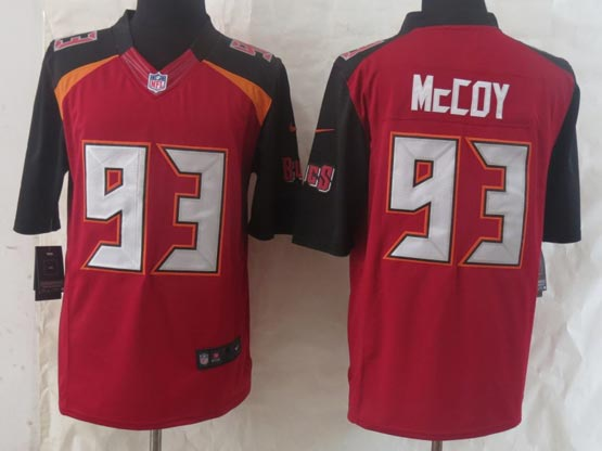 Mens Nfl Tampa Bay Buccaneers #93 Mccoy Red (2014 New) Limited Jersey