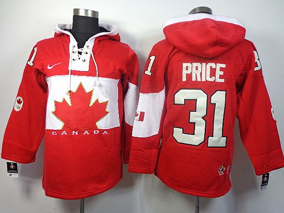 Mens nhl team canada #31 price red hoodie (2014 olympics) Jersey
