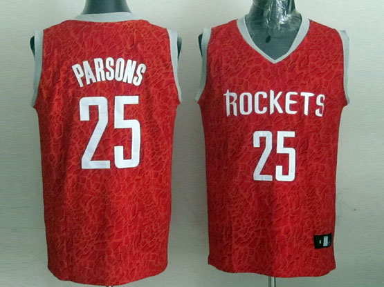 Mens Nba Houston Rockets #25 Parsons White Revolution 30 Jersey (p)