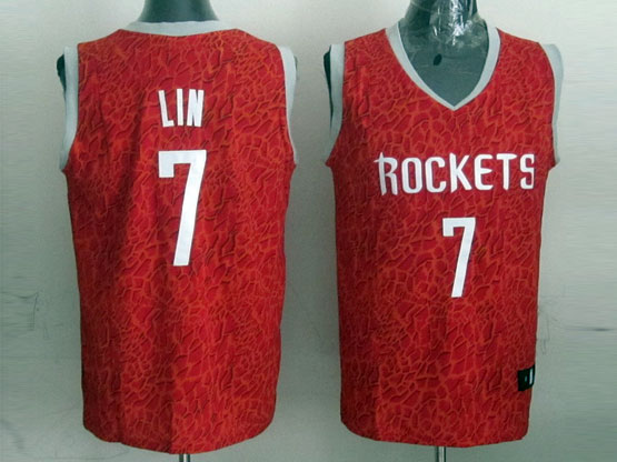 Mens Nba Houston Rockets #7 Lin White Revolution 30 Jersey (p)