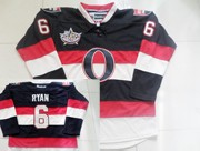 Mens reebok nhl ottawa senators #6 ryan black&white 2012 Jersey