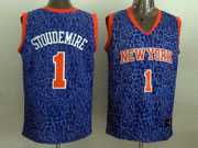 Mens Nba New York Knicks #1 Stoudemire Blue Leopard Grain Jersey
