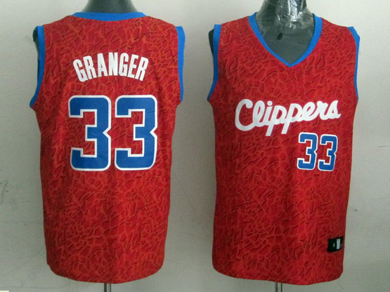 Mens Nba Los Angeles Clippers #33 Granger Red Leopard Grain Jersey