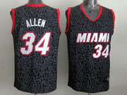 Mens Nba Miami Heat #34 Allen Black Leopard Grain Jersey