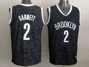 Mens Nba Brooklyn Nets #2 Garnett Black Leopard Grain Jersey