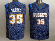 Mens Nba Denver Nuggets #35 Faried Blue Leopard Grain Jersey