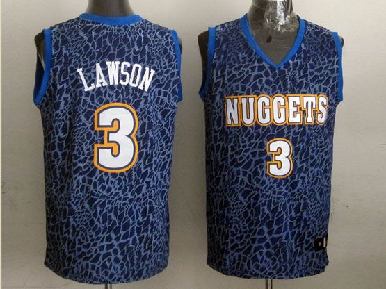 Mens Nba Denver Nuggets #3 Lawson Blue Leopard Grain Jersey