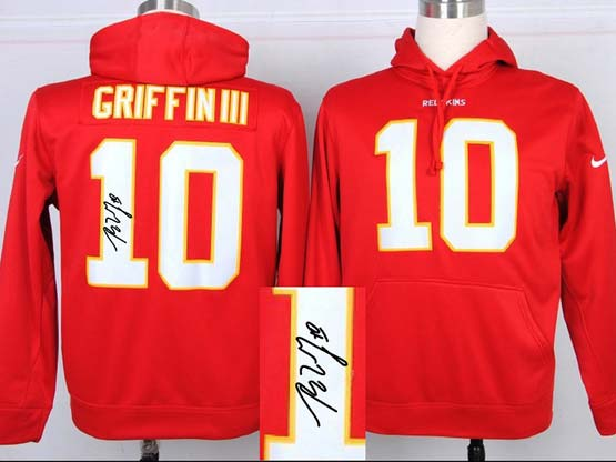 Mens Nfl Washington Redskins #10 Griffin Iii Red Hoodie(signature Edition)jersey