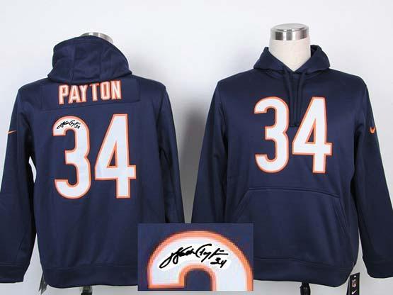Mens Nfl Cincinnati Bengals #34 Payton Blue Hoodie(signature Edition)jersey
