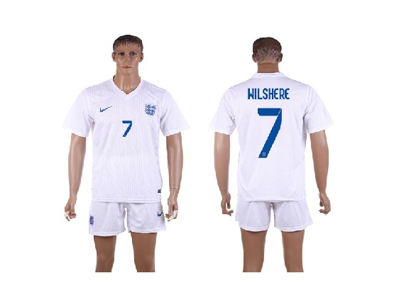 mens soccer england national team #7 wilshere white home (2014 world cup) Suit Jersey