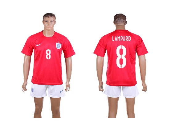mens soccer england national team #8 lampard red away (2014 world cup) Suit Jersey