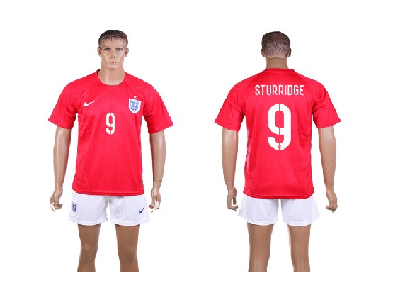 mens soccer england national team #9 sturridge red away (2014 world cup) Suit Jersey
