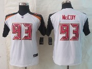 Youth Nfl Tampa Bay Buccaneers #93 Mccoy White Limited Jersey