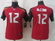 Youth Nfl Tampa Bay Buccaneers #12 Mccown Red Limited Jersey
