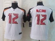 Youth Nfl Tampa Bay Buccaneers #12 Mccown White Limited Jersey