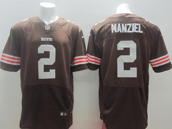 Mens Nfl Cleveland Browns #2 Manziel Brown Elite Jersey