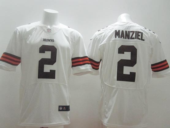 Mens Nfl Cleveland Browns #2 Manziel White Elite Jersey