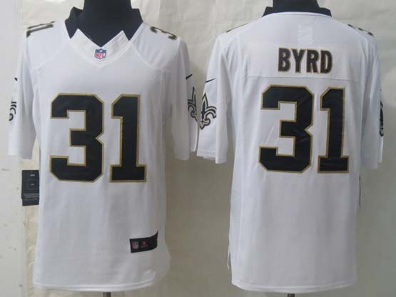 Mens Nfl New Orleans Saints #31 Byrd White Limited Jersey