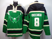 Mens nhl washington capitals #8 ovechkin green c patch hoodie Jersey