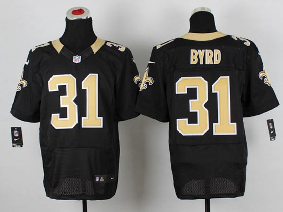 Mens Nfl New Orleans Saints #31 Byrd Black Elite Jersey