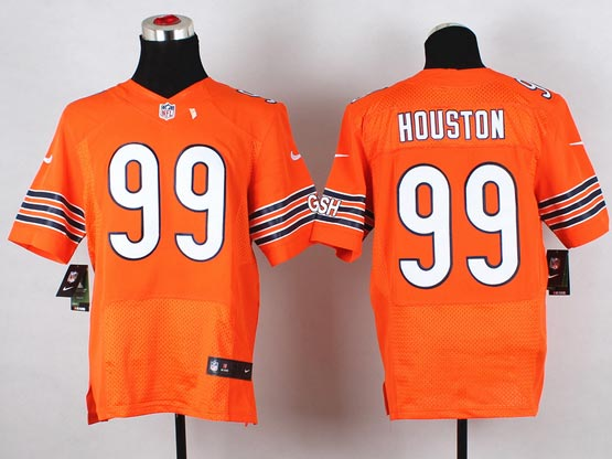 Mens Nfl Chicago Bears #99 Houston Orange (2014 New) Elite Jersey(sn)