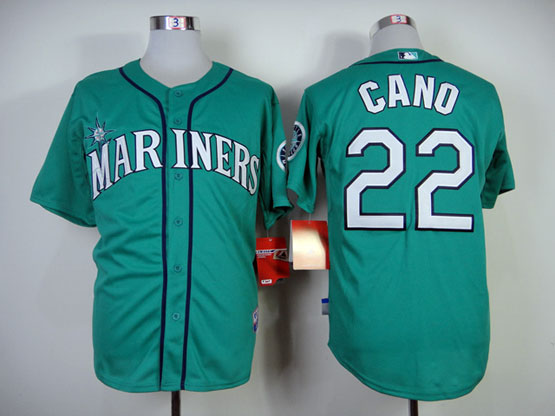 Mens mlb seattle mariners #22 cano green Jersey