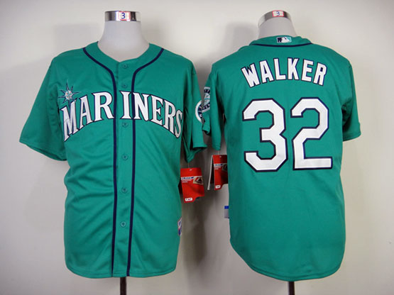 Mens mlb seattle mariners #32 walker green Jersey