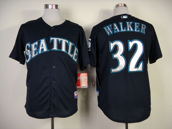 Mens mlb seattle mariners #32 walker deep blue (2014 new) Jersey