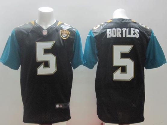 mens nfl Jacksonville Jaguars #5 Blake Bortles black (2013 new) elite jersey