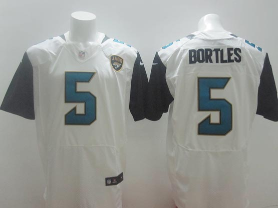mens nfl Jacksonville Jaguars #5 Blake Bortles white (2013 new) elite jersey