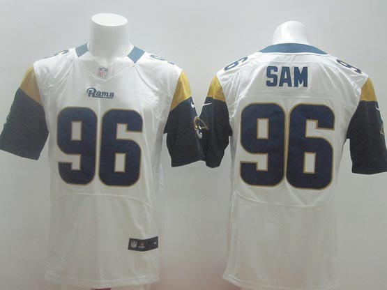 Mens Nfl St. Louis Rams #96 Sam White Elite Jersey