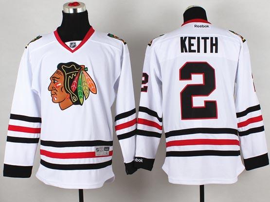 Mens reebok nhl chicago blackhawks #2 keith white (2014 new) Jersey
