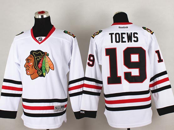 Mens reebok nhl chicago blackhawks #19 toews white (2014 new) Jersey