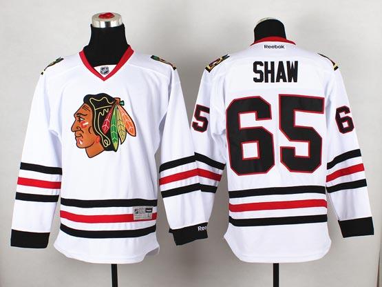 Mens reebok nhl chicago blackhawks #65 shaw white (2014 new) Jersey